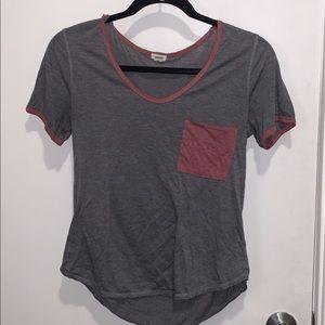 GARAGE t-shirt with maroon pocket!